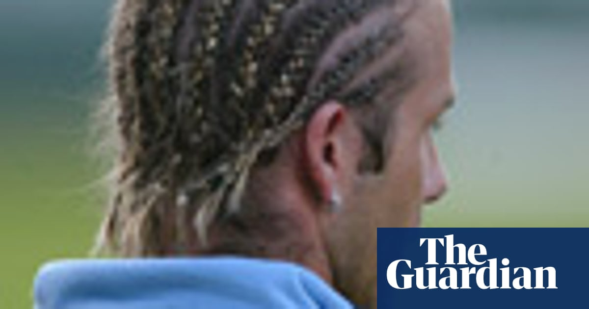 David Beckham: a career in hairstyles – in pictures