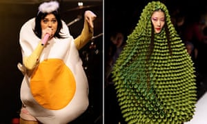 Katy Perry dressed as an egg