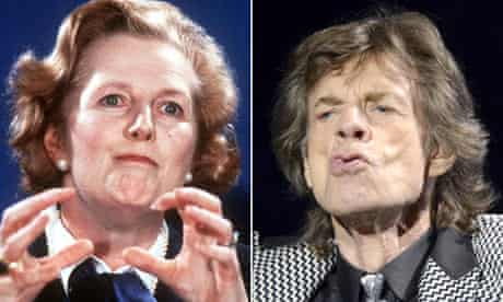Mick Jagger and Maggie Thatcher