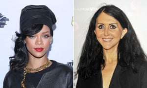Rihanna and Liz Jones