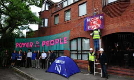 Anti-fracking protesters occupy the headquarters of Lichfield-based energy company Cuadrilla