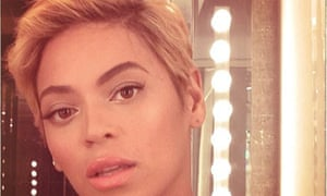 Beyonce and her pixie crop