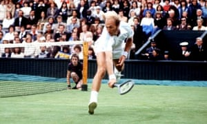 Stan Smith in action at Wimbledon in 1978