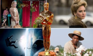 Composite for Oscar nominations with statuette