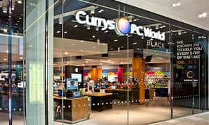 Currys PC World, owned by Dixons. The group enjoyed booming Christmas sales alongside Home Retail Gr