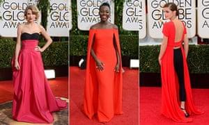 Taylor Swift,  Lupita Nyong'o and Emma Watson at the Golden Globes