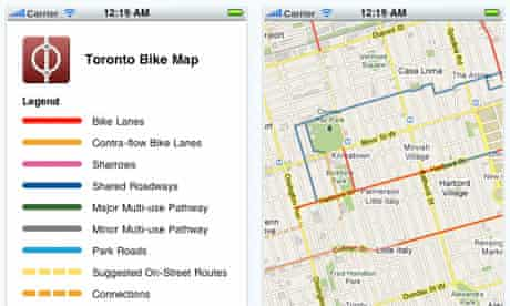 Toronto bike map