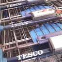 Tesco supermarket trolleys