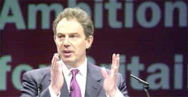 Tony Blair launches Labour's election manifesto in Birmingham PHOTO: Dave Jones, PA