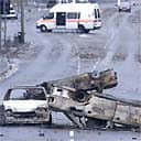Burnt out cars in Bradford