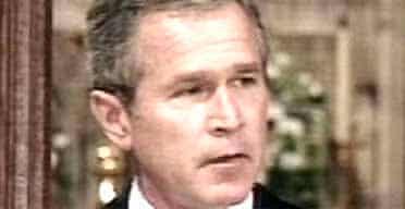 President George Bush at the Washington National cathedral memorial service. Photo: PA