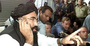 Taliban spokesman at news conference in Pakistan