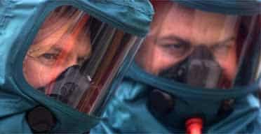 Members of the Merseyside Ambulance decontamination team
