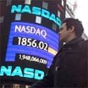 Nasdaq billboard in New York's Times Square