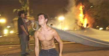Demonstrators in Buenos Aires' Plaza de Mayo, Argentina