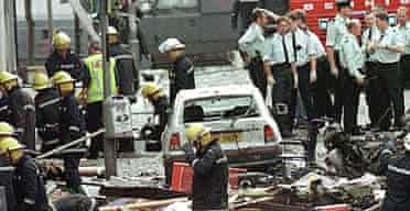 Aftermath of the Omagh bomb
