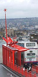 The new space age bus shelter in Bradford