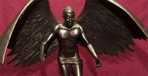 Statue of winged Prince of Wales