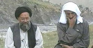 Undated video still featuring Osama bin Laden (right) and his top deputy Ayman al-Zawahri