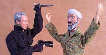 Dolls of George Bush (left) and Osama bin Laden