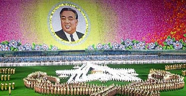 North Korean workers and students perform during the opening event of Arirang festival in North Korea