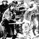 British soldier and demonstrator during Bloody Sunday