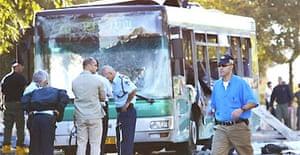 Bombed bus in Jerusalem