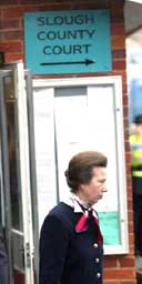 Princess Anne leaves court after admitting she let her dog attack two children
