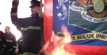 Firefighters picket in Belfast
