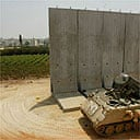 Israeli wall cutting off the West Bank