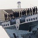 Sailors aboard HMS Ark Royal
