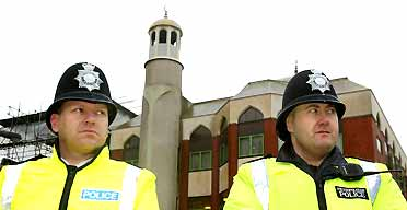 Police outside Finsbury Park mosque, London