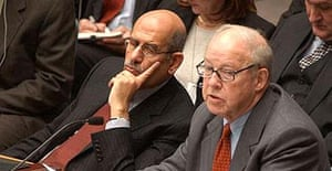 UN chief weapons inspector Hans Blix (right) and IAEA chief Mohammed el-Baradei