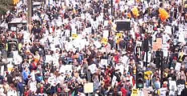 Anti-war protest, London, Feb 15