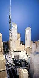 Daniel Libeskind's design for the World Trade Centre site
