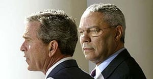 George Bush and Colin Powell