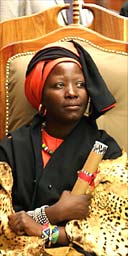 Rain Queen Modjadji VI of the Balobedu tribe during the crowning ceremony in Duiwelskloof, South Africa