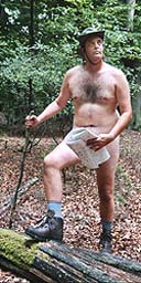 Stephen Moss hiking naked in Epping Forest