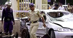 Bombay policeman after explosion