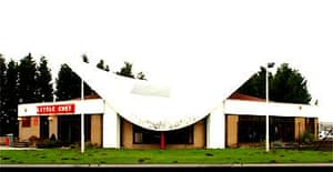 The Little Chef's restaurant's hyperbolic paraboloid roof