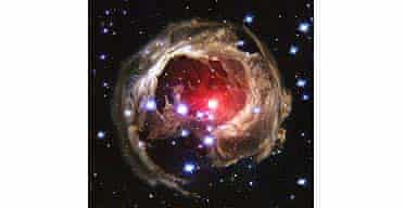 A Hubble space telescope image of dust swirling around a star