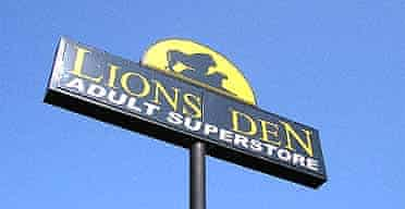 The Lions Den sex shop, which has thrown itself into the political fray