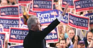 26.07.04: Bill Clinton addresses the Democratic National Convention in Boston