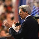 John Kerry addresses the Democratic national convention in Boston