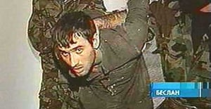 A TV image of a man described on Channel One as one of the hostage-takers in Beslan
