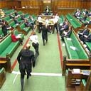 Pro-hunting demonstrators invade the House of Commons as MPs debate the hunting bill