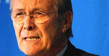 The US defence secretary, Donald Rumsfeld