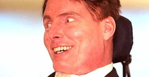 The actor Christopher Reeve, who has died aged 52. Photograph: Toby Melville/PA