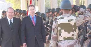 Tony Blair in Baghdad for talks with his Iraqi counterpart, Ayad Allawi on December 21 2004
