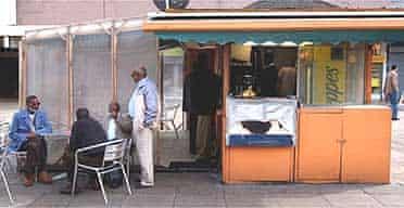 A Somali tea shop in Wembley Central Square